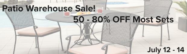 patio warehouse sale Chicago