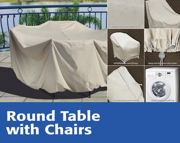 Round Table with Chairs Cover