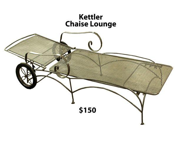 Aluminum northwest metalcraft for Chaise kettler