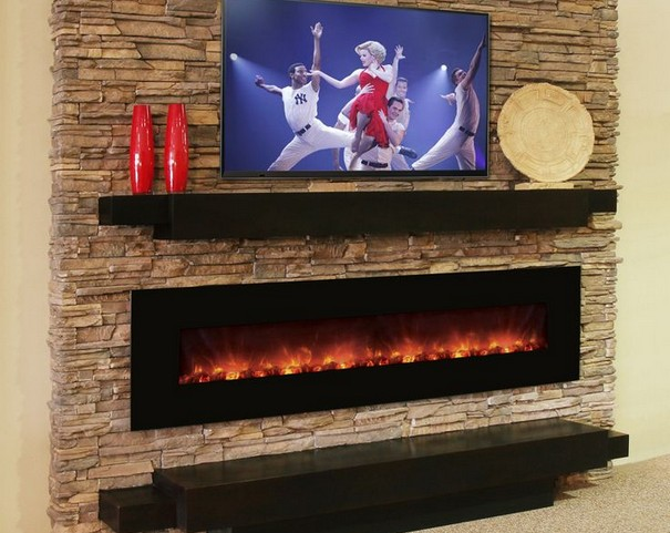 Modern Flame Built In-Wall Mount