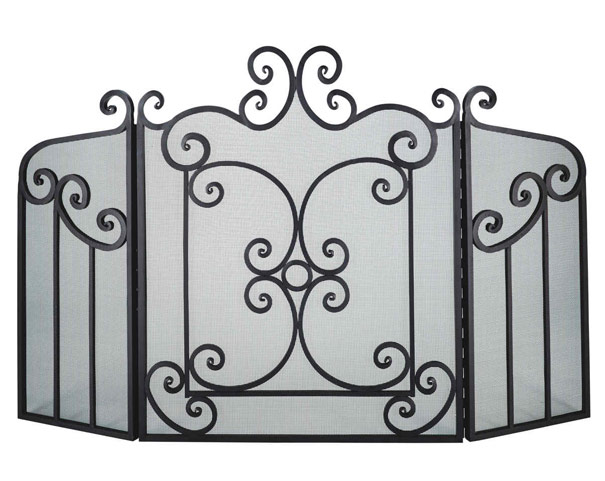 Dagan Industries-3 Panel Screen Ornate