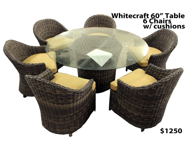Whitecrest 60″ Table Set